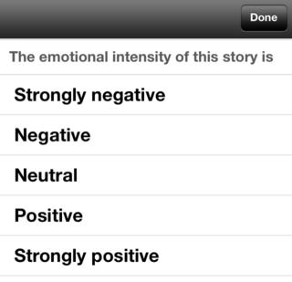 Emotional intensity - iOS app